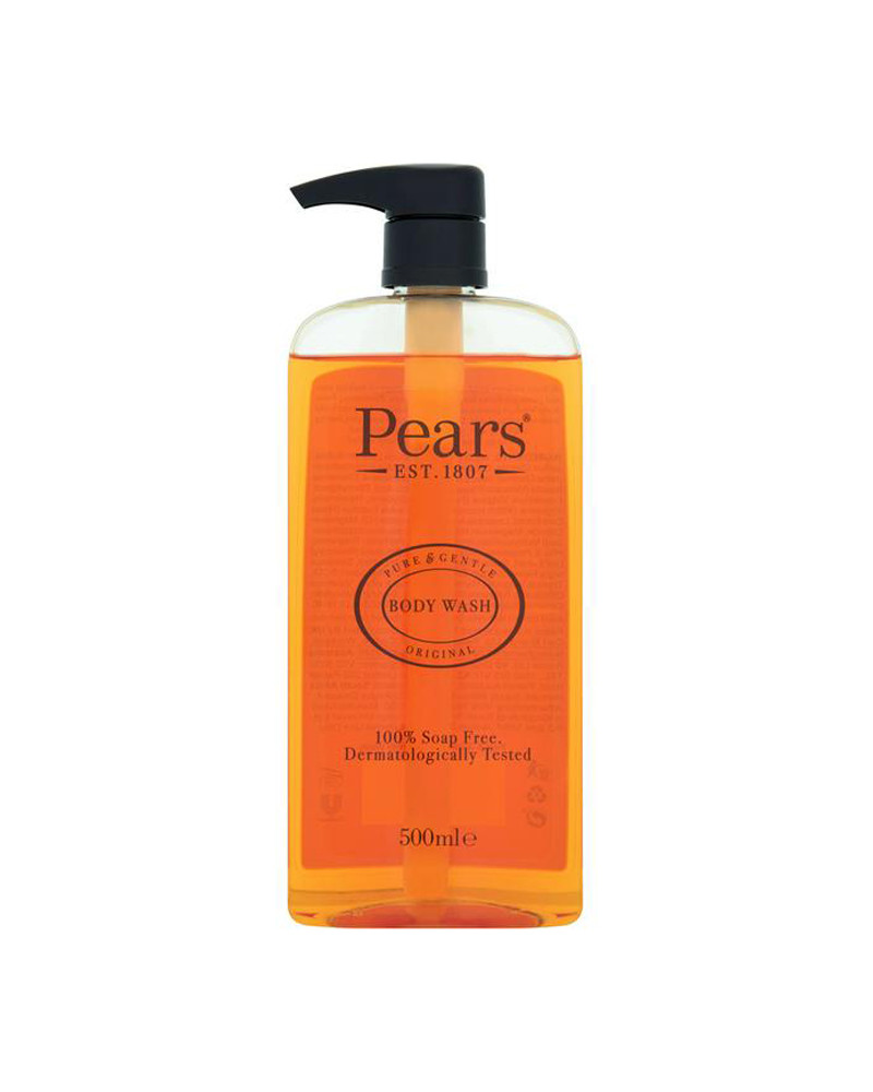 PEARS BODY WASH PURE & GENTLE WITH PLANT OILS 500ML