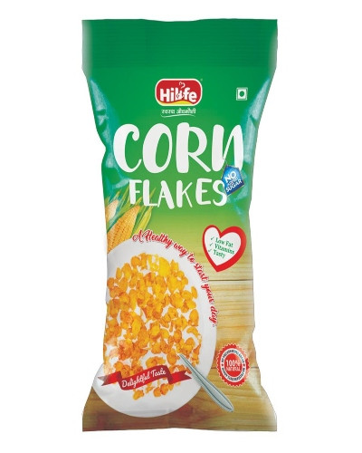 HILIFE CORNFLAKES NO SUGAR ADDED 500GM  POUCH