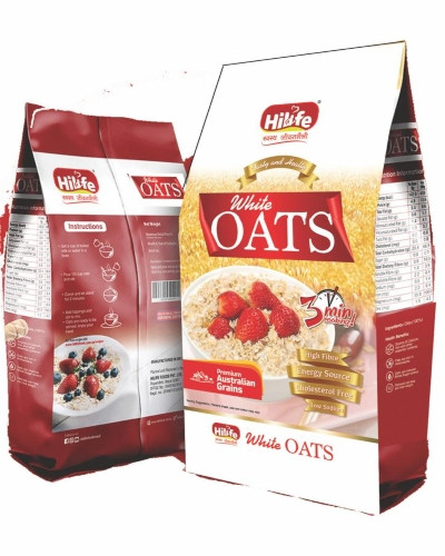 HILIFE WHITE OATS 400GM POUCH