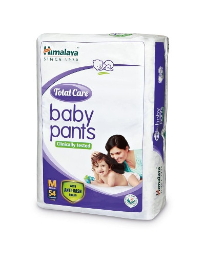 HIMALAYA TOTAL CARE BABY PANTS MED 54'S