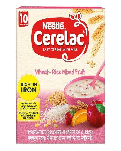 NESTLE CERELAC WHEAT-RICE MIXED FRUIT 300GM (10-12MONTHS)