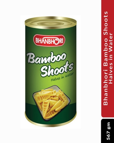 Bhanbhori Bamboo Shoots Halves in Water, 567 gm