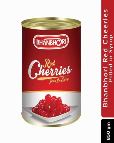 Bhanbhori Red Cheeries Pitted in Syrup, 850 gm