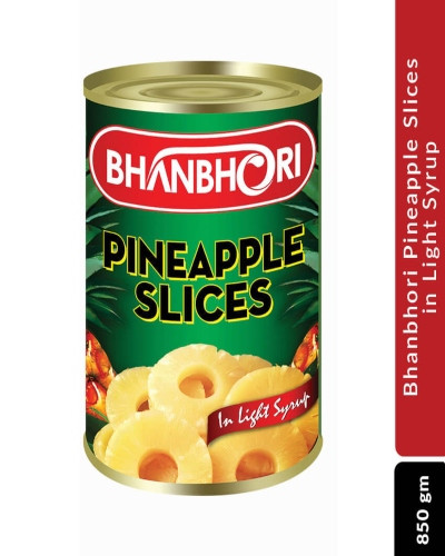 Bhanbhori Pineapple Slices In Light Syrup, 850 gm