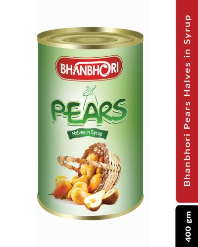 Bhanbhori Pears Halves in Syrup, 400gm