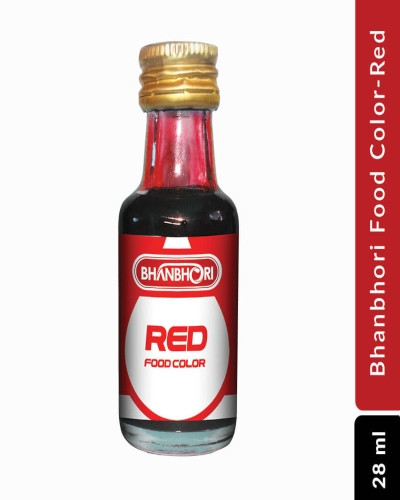 Bhanbhori Food Color-Red, 28 ml