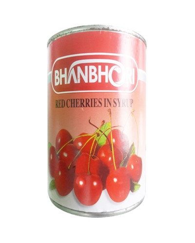 BHANBHORI RED CHERRIES IN SYRUP 850GM