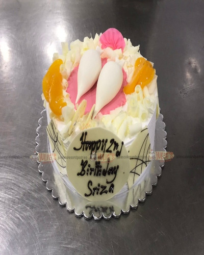White forest cake with Yomari cake topper 2lb