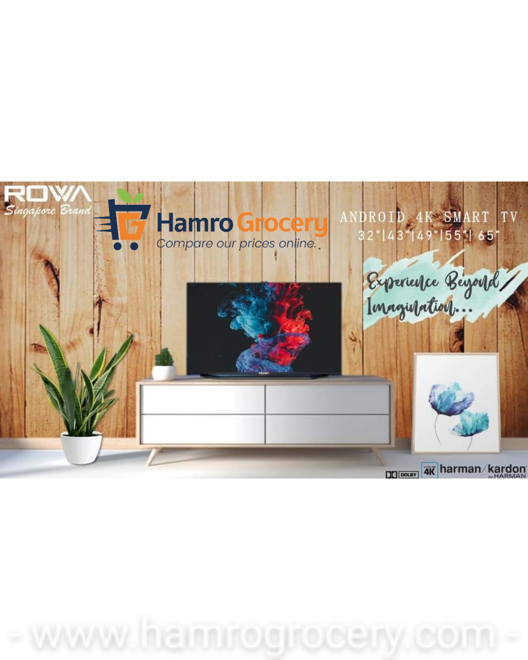 ROWA 49 Inch SMART ANDROID  4K UHD TV (TELEVISION) (49D1810A4K)